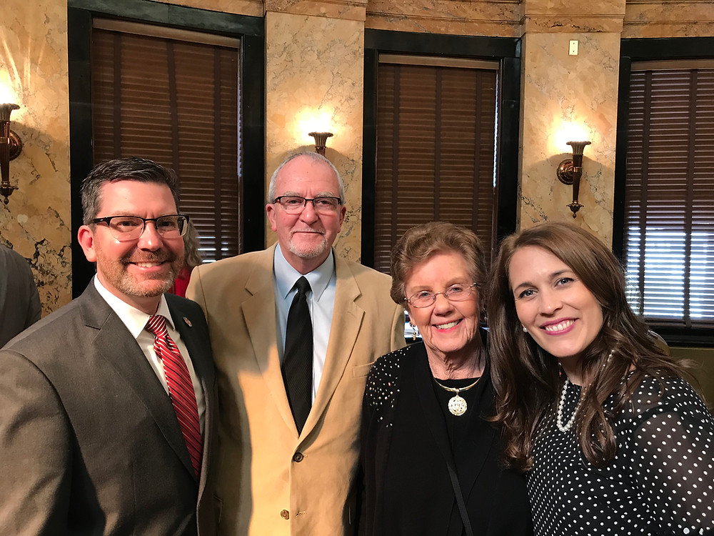 Opening day of session with my Dad (John Eubanks), Mae Treadway, and my wife Corey Eubanks.