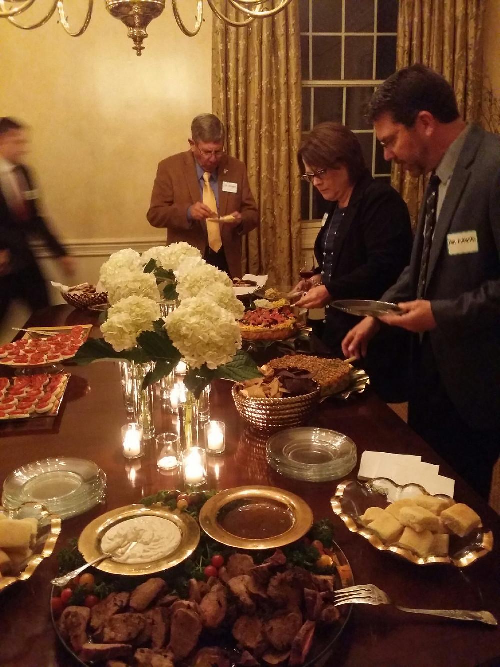 Dinner at Secretary Hoseman's house.