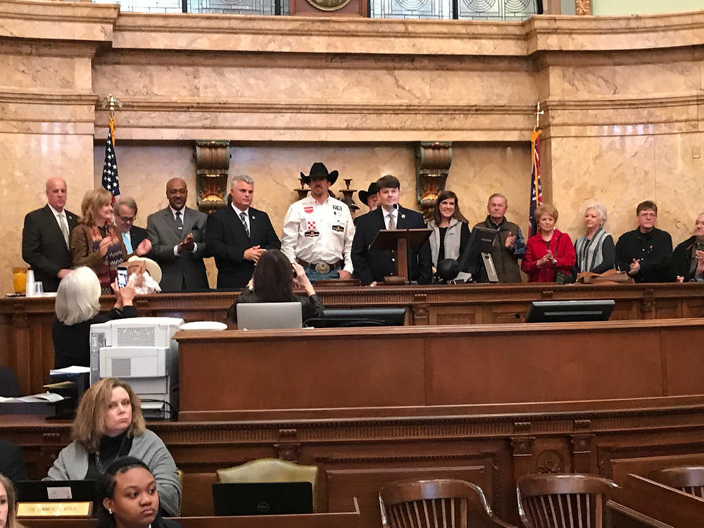Honoring Mississippian and World Champion Steer Wrestler Tyler Pearson.
