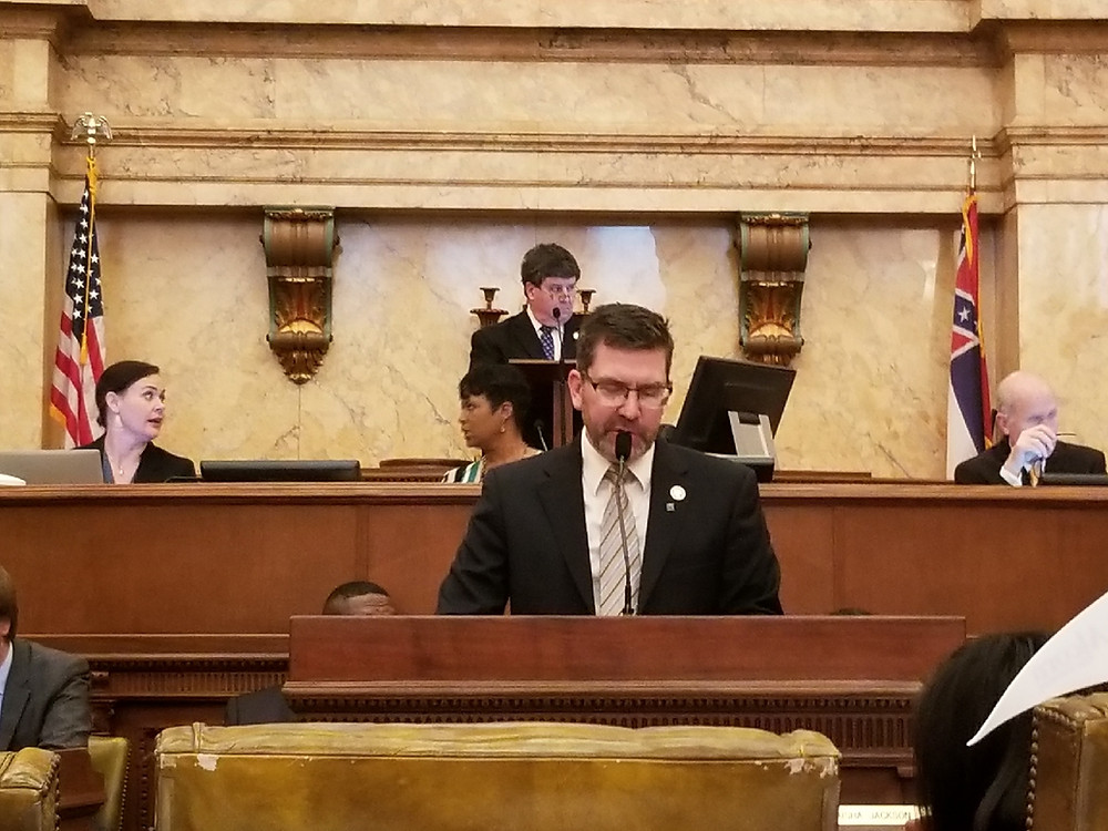 Dan Eubanks presenting a bill for Youth and Family Committee.