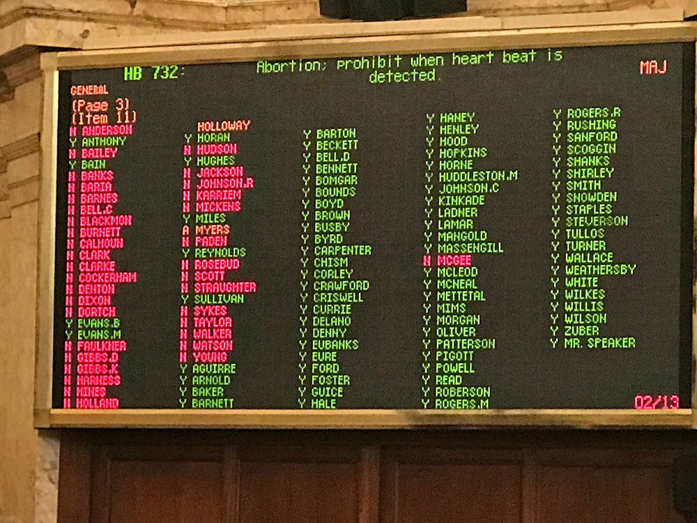 Heartbeat Bill Vote (HB732)