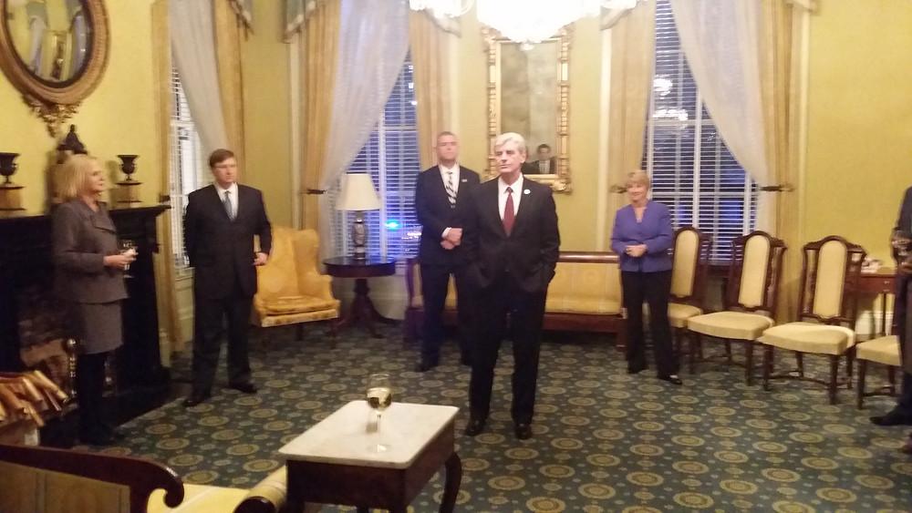 Governor Bryant, Lt. Governor Reeves, Speaker Gunn welcoming the freshman.