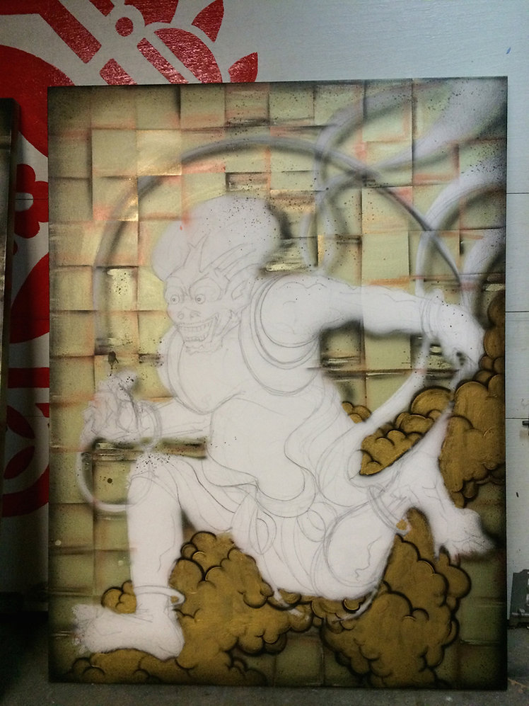 WakudaStudio_Studio_Raijin_&_Fujin_proce