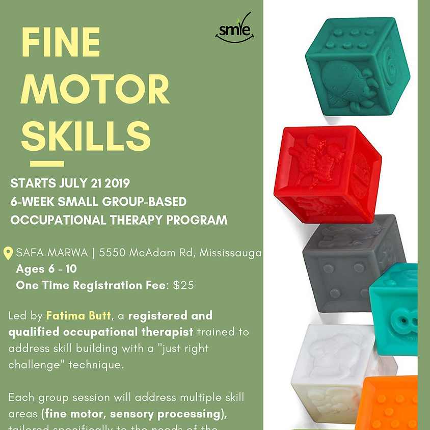Fine Motor Skills Therapy Group