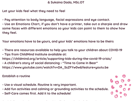 Caring for Your Children Tip Sheet