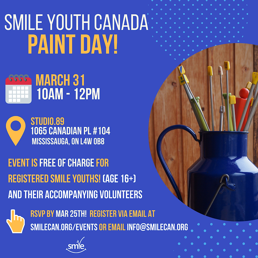 Smile Youth Canada - Paint Day