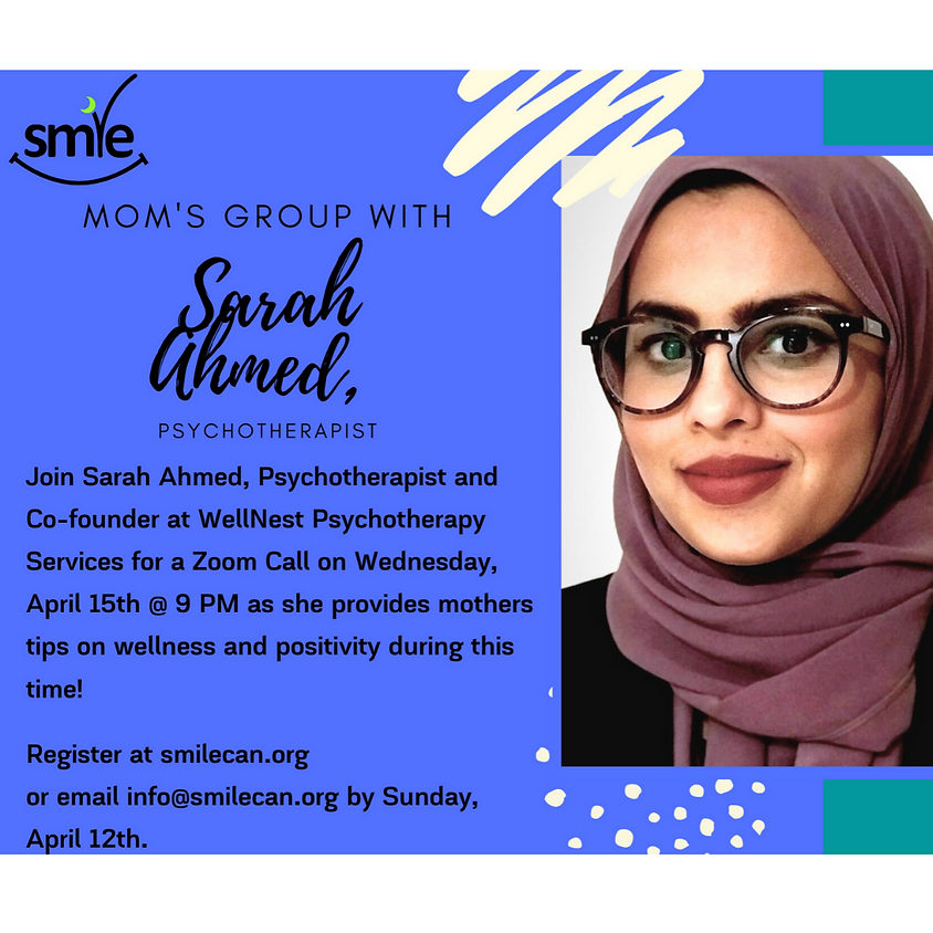 Mothers Group with Sarah Ahmed