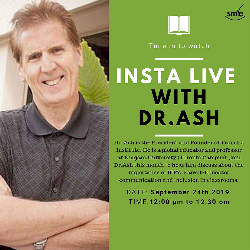 Insta Live with Dr.Ash