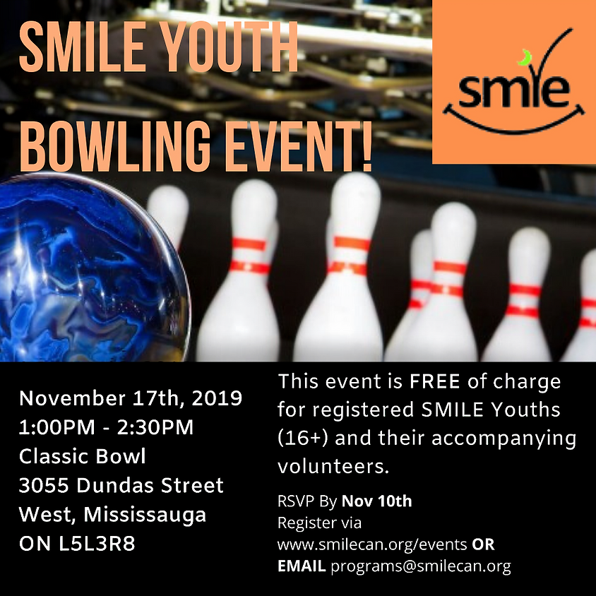 SMILE Youth Bowling Event