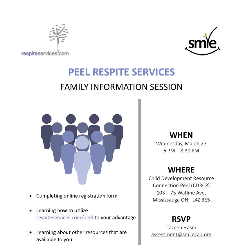 Peel Respite Services - Family Info Sessions