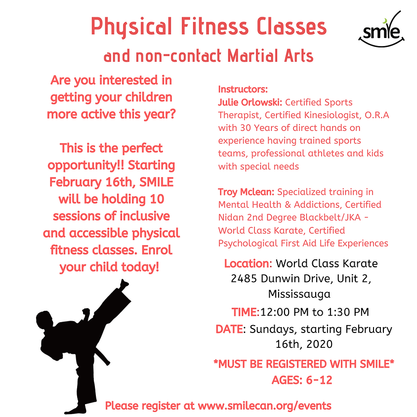 Physical Fitness Classes and Non-Contact Martial Arts