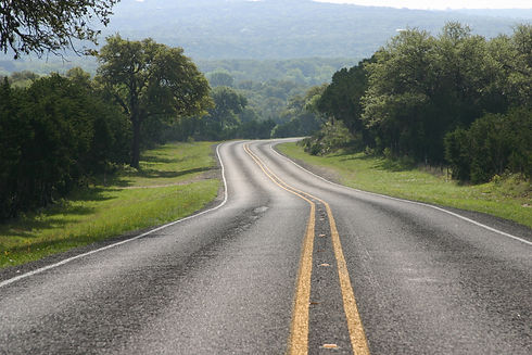 Road and trees in the Texas Hill Country