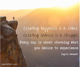 Creating happiness is not a struggle..pn