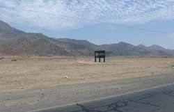Sign on road to Chicama