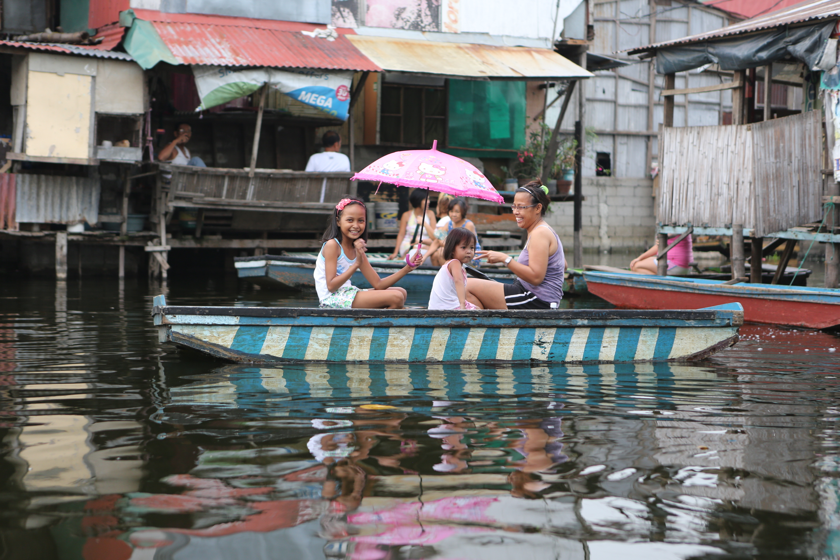 Flooded village - Northern Manila