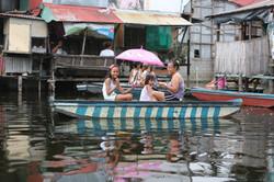 Flooded village - Northern Manila