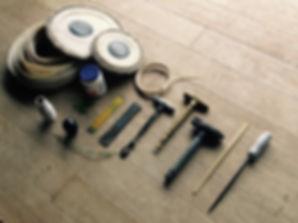 タブラー修理のための道具