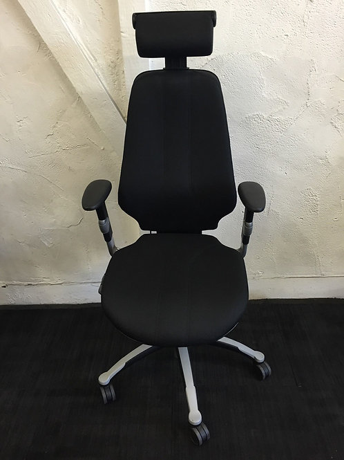 RH Logic 400 Ergonomic Chair With Headrest. 2 button versions