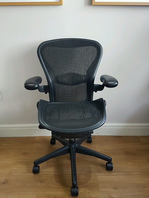 London Used Aeron Chairs Desk Herman Miller RH Chairs Aeron - Ergonomic office chair uk