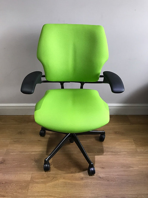 Lime Green Humanscale Freedom Ergonomic Black Fabric
