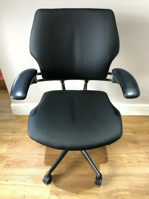Black leather Humanscale Freedom Ergonomic Office Task Chair
