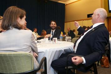 Good conversations at the 2017 Symposium.