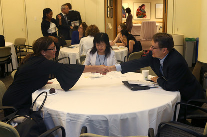 Making new connections at the 2017 Symposium.