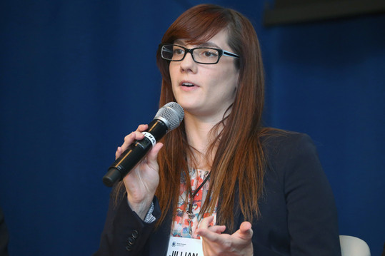 Jillian Lennartz, Principal in CSR at CA Technologies, in the Breakthrough Innovation session.