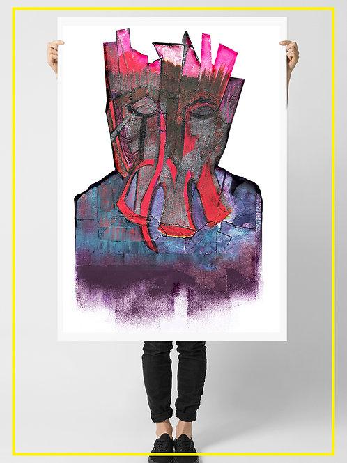 """""""Cinnaun the Urban Monster"""" A1 Poster 59.4X84.1 cm"""