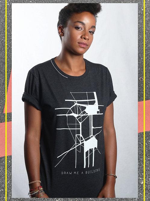 Draw Me A Building T Shirt D.Grey