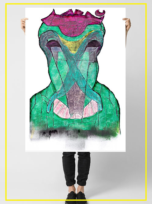 """Yuplana the Urban Monster"" A1 Poster 59.4X84.1 cm"