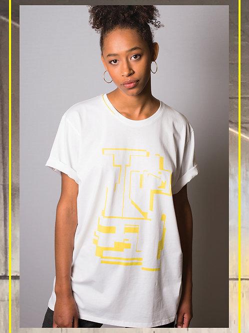 Yellow Block White Oversize T Shirt