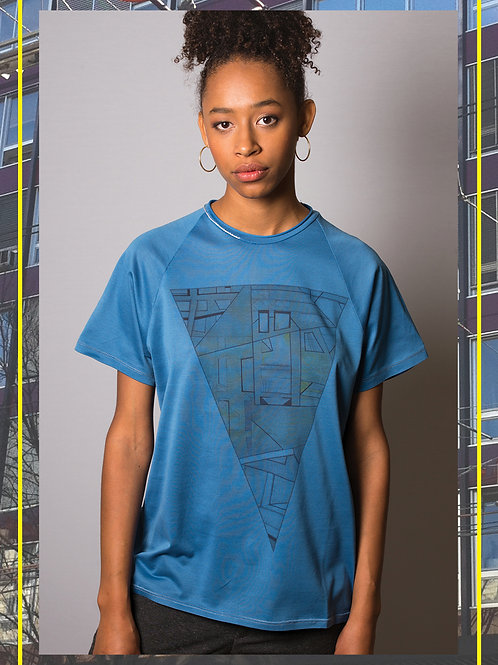 Urban Triangle Blue T- Shirt