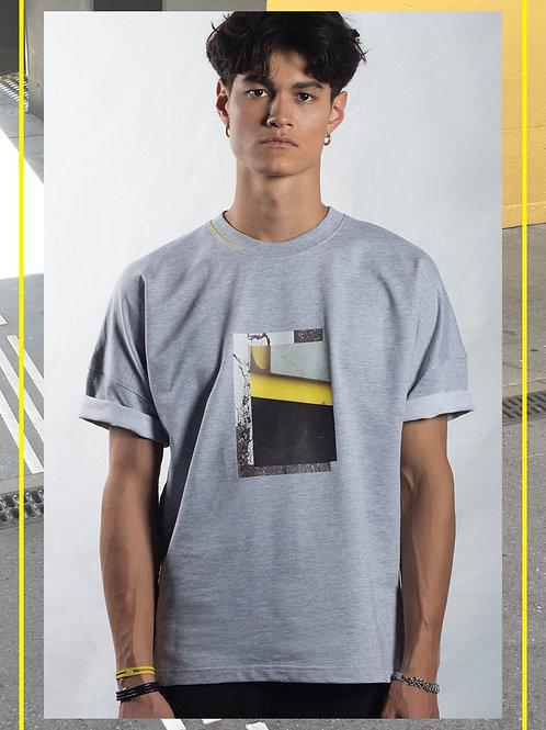 Hibi Oversize Grey T-Shirt