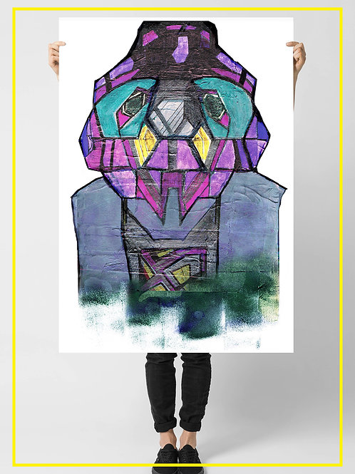 """Misgara the Urban Monster"" A1 Poster 59.4X84.1 cm"
