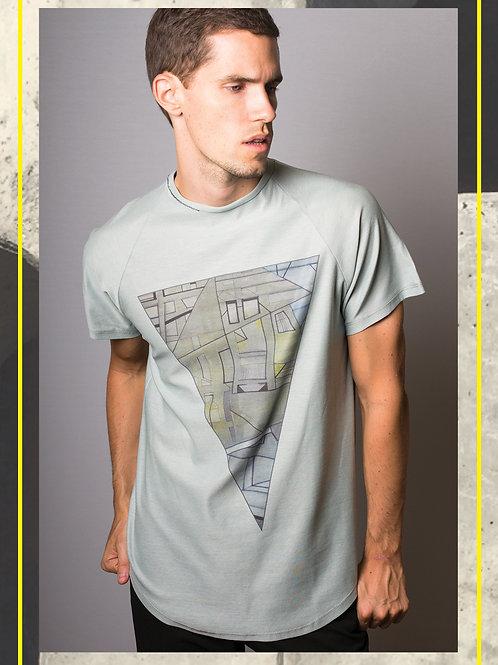 Urban Triangle Light Green T- Shirt