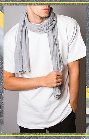 Waves Scarf Light Grey