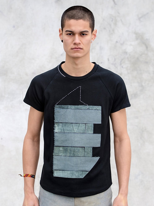 Pointy Building Black T