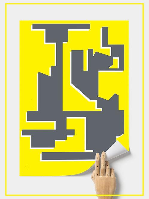 """""""Grey Block"""" A2 Poster 42X59.4 cm"""