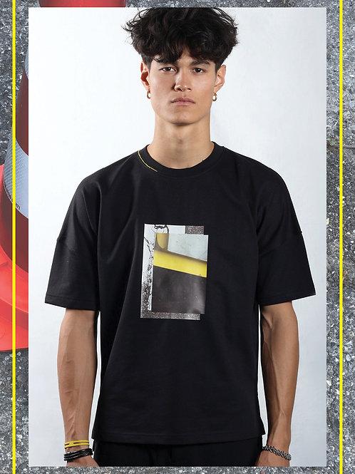 Hibi Oversize Black T-Shirt