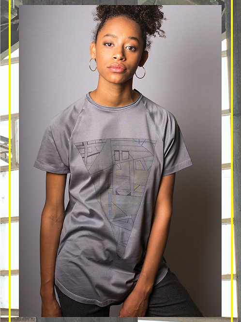 Urban Triangle Grey T- Shirt