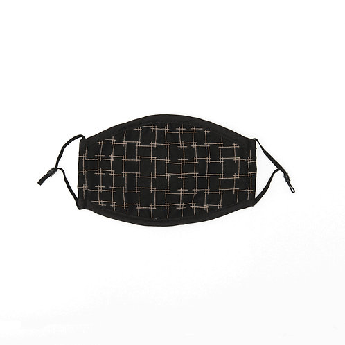 2 Pack Black Square Mask