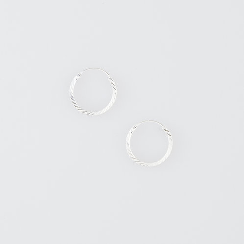 Small Twist Circle Earrings