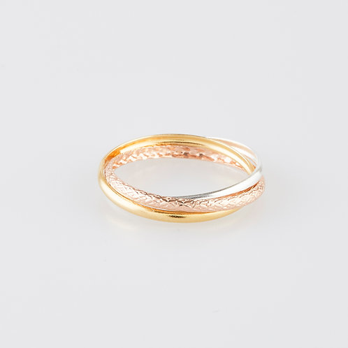 Triple Ring Gold And Rose Gold