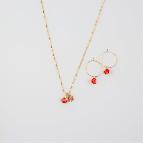 Clara Earrings & Hana Necklace