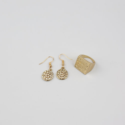 Daxten Earrings & Shelby Ring