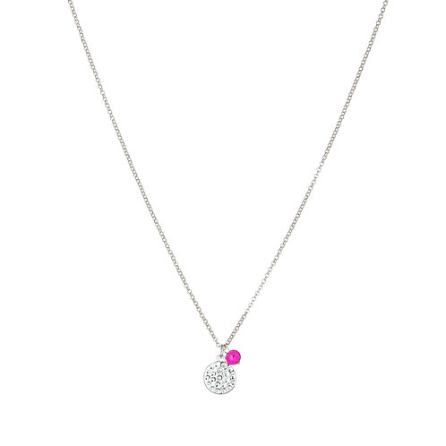 Pink Coin Necklace