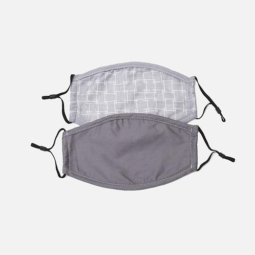 2 Pack Grey Square Mask