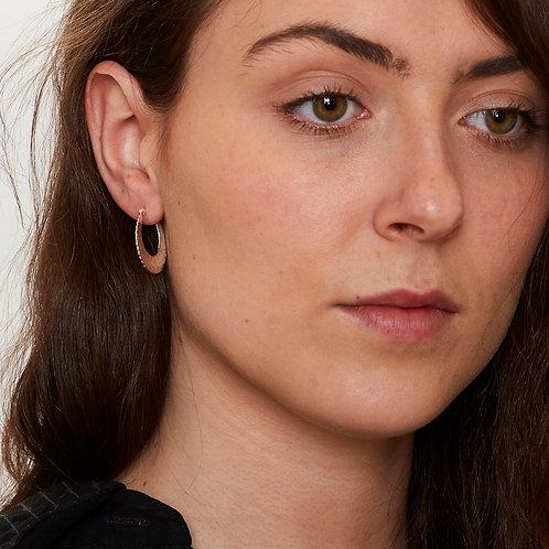 Circle Hammered Hoop Earrings