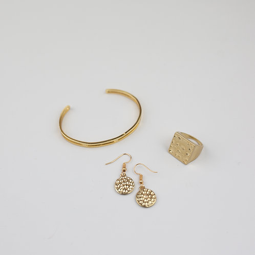 Daxten Earrings, Shelby Ring & Arnie Bracelet